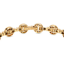 Cartier Vintage Circle & Bar Motif Diamond Bracelet in Yellow Gold 3.90 ctw