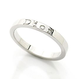 Christian Dior Logo 950 Platinum Ring Size 6.5
