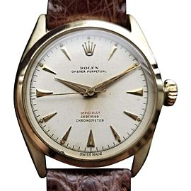 Rolex Oyster Perpetual 6084 Vintage 33mm Mens Watch