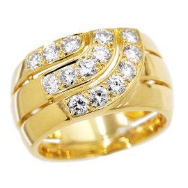 Cartier 18K Yellow Gold & Diamond Ring Size 6