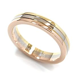 Cartier Trinity 18K Yellow White & Rose Gold Ring Size 4.5