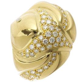Bulgari 18K Yellow Gold & Diamond Ring Size 6.5