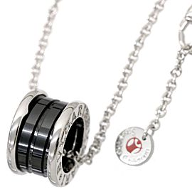 Bulgari B-Zero 1 925 Sterling Silver & Black Ceramic Save The Children Necklace