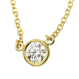 Tiffany & Co. 18K Yellow Gold & 0.20ct Diamond By The Yard Necklace