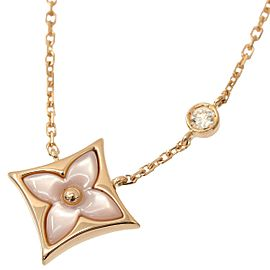 Louis Vuitton 18K Rose Gold Diamond Shell Necklace