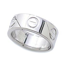 Cartier Astro Love 18K White Gold Pendant - Ring Size 5.25