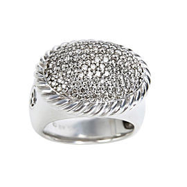 David Yurman 925 Sterling Silver with 0.75ctw Diamond Ring Size 6