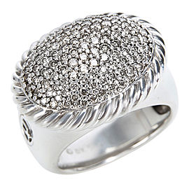 David Yurman 925 Sterling Silver with 0.75ctw Diamond Ring Size 6