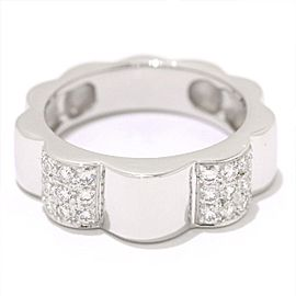 Chanel 18K White Gold with Diamond Profil de Camelia Ring Size 5