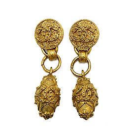 Chanel Gold Tone Hardware Coco-Mark Earrings