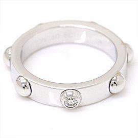 Louis Vuitton 18K White Gold with Diamond Petite Berg Crew Ring Size 9