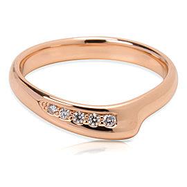 Tiffany & Co. Elsa Peretti 18K Rose Gold 0.04ctw Diamond Ring Size 5.5