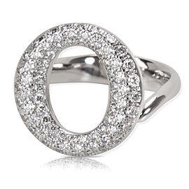 Tiffany & Co. Elsa Peretti Sevillana PT950 Platinum 0.80ctw Diamond Ring Size 5.5