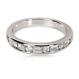 Tiffany & Co. PT950 Platinum with 0.66ctw Diamond Band Ring Size 7