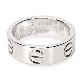Cartier Love 18K White Gold Band Ring Size 4.5