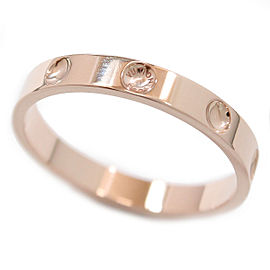 Louis Vuitton Empreinte 18K Rose Gold Ring Size 12