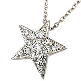 Chanel Comete 18K White Gold Diamond Necklace