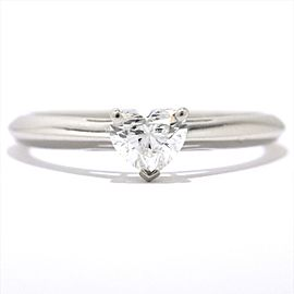 071c1376d37 Tiffany   Co. 950 Platinum 0.39ct Heart Diamond Ring Size 5
