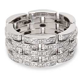 Cartier Panthere Ring 18K White Gold with 1.50ct Diamond Size 9.5