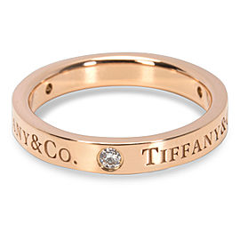 Tiffany & Co. 18K Rose Gold with 0.06ct Diamond Band Ring Size 4.75