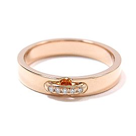 Chaumet 18K Rose Gold Diamond Ring Size 3.25
