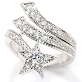 Chanel Comete 18K White Gold 0.30ctw Diamond Ring Size 5.75