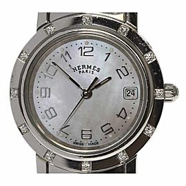Hermes Clipper Nacre CL4.230 24mm Womens Watch