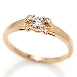 Cartier Ballerine Ring 18K Rose Gold 0.24ctw Diamond Size 8.25