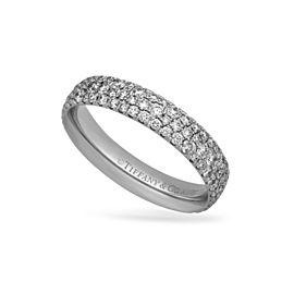 Tiffany & Co. 18K White Gold Diamond Ring Size 8