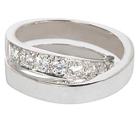 Cartier Nouvelle Vague Ring 18K White Gold with 1.11ct Diamond Size 6.25