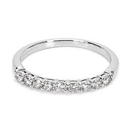 Tiffany & Co. Platinum with 0.27ct Diamond Wedding Band Ring Size 5