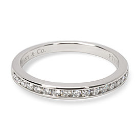 Tiffany & Co. Platinum 0.17ct Diamond Wedding Ring Size 5.5