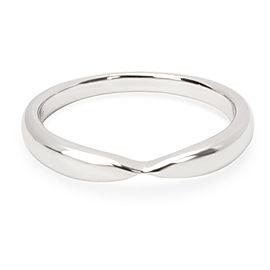 Tiffany & Co. Harmony Platinum Band Ring Size 5.5