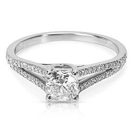 Tiffany & Co. Lucida Platinum with 0.67ct Diamond Engagement Ring Size 6.25