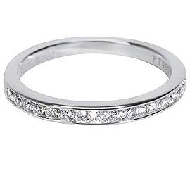 Tiffany & Co. PT950 Platinum with 0.24ct Diamond Wedding Ring Size 5