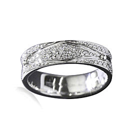 Louis Vuitton 18K White Gold with Diamond Ring Size 7