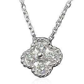 Van Cleef & Arpels 18K White Gold Diamond Necklace