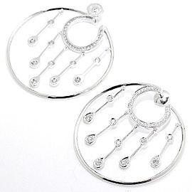 Chanel La Pluie 18K White Gold Diamond Hoop Earrings