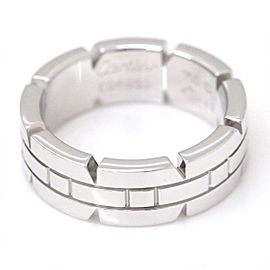 Cartier Tank Francaise Ring 18K White Gold Size 4.75