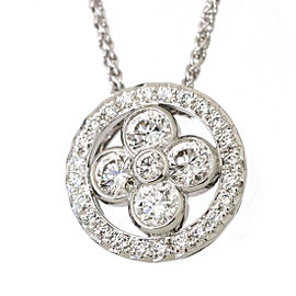 Louis Vuitton 18K White Gold with 0.90ctw. Diamond Pendant Blossom Necklace