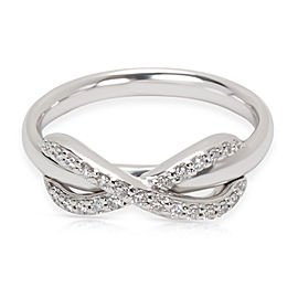 Tiffany & Co. Infinity Diamond 18K White Gold Ring Size 4.75