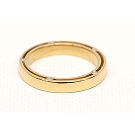 Damiani 750 Yellow Gold with Diamond Ring Size 4.5