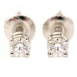 Tiffany & Co. PT950 Platinum with 0.18ct Solitaire Diamond Pierced Earrings