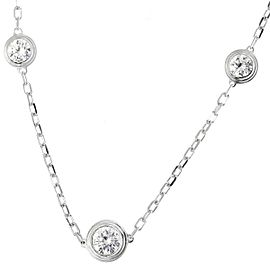 Cartier Diamant Leger Necklace 18K White Gold with Diamond
