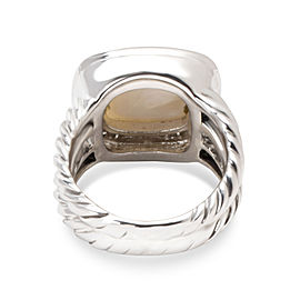 David Yurman Albion Sterling Silver Mother Of Pearl, Diamond, Pearl Ring Size 4
