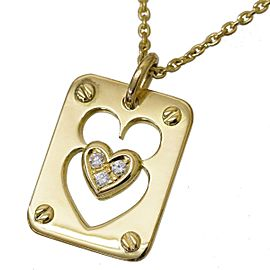 Christian Dior 18K Yellow Gold Diamond Heart motif Necklace