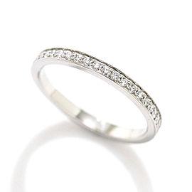 Piaget Lime light Half Diamond Ring Platinum Size 4.5