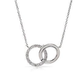 Tiffany & Co. Interlocking Circles 18K White Gold Diamond Necklace