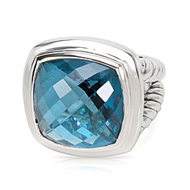 David Yurman Albion Sterling Silver and Blue Topaz Ring Size 6.5