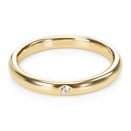 Tiffany & Co. Elsa Peretti 18K Yellow Gold Diamond Ring Size 6.75